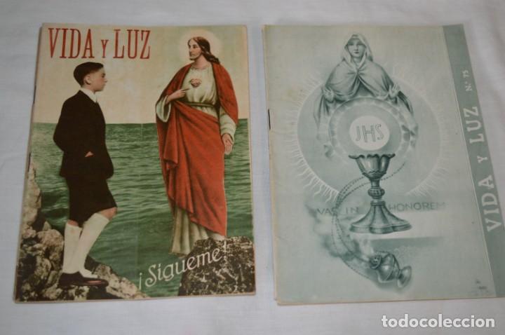 Tebeos: VIDA y LUZ / Revista Escolar Ilustrada / Época TERCERA - Números 68, 73, 75 y 86 - Años 50 ¡Mira! - Foto 3 - 193058200
