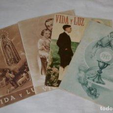 Tebeos: VIDA Y LUZ / REVISTA ESCOLAR ILUSTRADA / ÉPOCA TERCERA - NÚMEROS 68, 73, 75 Y 86 - AÑOS 50 ¡MIRA!. Lote 193058200