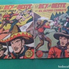 Tebeos: EL REY DEL OESTE LOTE DE 2 NUMEROS 16-17 ORIGINALES EDITORIAL GARGA. Lote 193566751