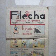 Tebeos: FLECHA.SEMANARIO NACIONAL INFANTIL. AÑO 1 - Nº 2. - 30 DE ENERO DE 1937.. Lote 193737301