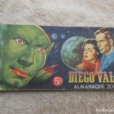 Tebeos: COMIC DIEGO VALOR , ALMANAUE 2055 , ORIGINAL ( VER FOTO ADICIONAL ).. Lote 194195176