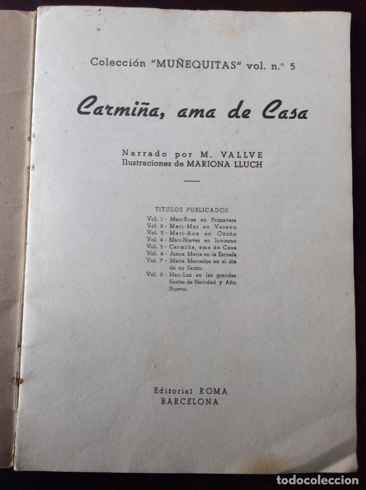 Tebeos: CARMIÑA AMA DE CASA. Publicación infantil de los años 40 - Foto 2 - 194199130