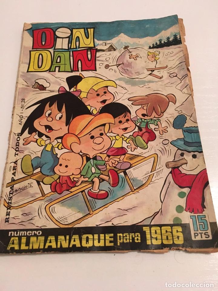 REVISTA TBO DIN DAN N 28 AÑO I 1966 (Tebeos y Comics - Tebeos Otras Editoriales Clásicas)