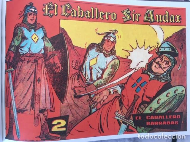 Tebeos: EL CABALLERO SIR AUDAX -Fascimil, completa, encuadernada - Ed. Andaluza - Foto 3 - 194225408