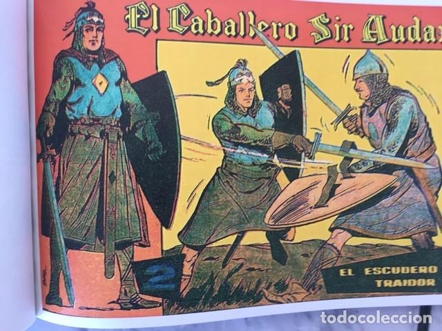 Tebeos: EL CABALLERO SIR AUDAX -Fascimil, completa, encuadernada - Ed. Andaluza - Foto 4 - 194225408