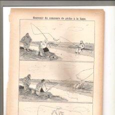 Tebeos: 1137. SOUVENIR DU CONCOURS DE PECHE A LA LIGNE (1897/1898). Lote 194238953