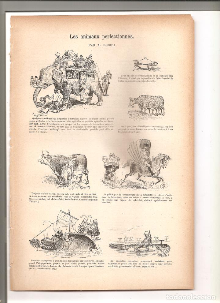 1138. LES ANIMAUX PERFECTIONNES. DIBUJANTE ROBIDA (1897/1898) (Tebeos y Comics - Tebeos Clásicos (Hasta 1.939))