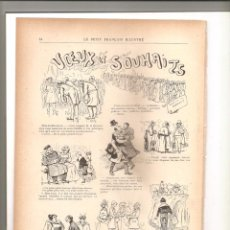 Tebeos: 1139. VOEUX ET SOUHAITS. DIBUJANTE HENRIOT (1897/1898). Lote 194239503