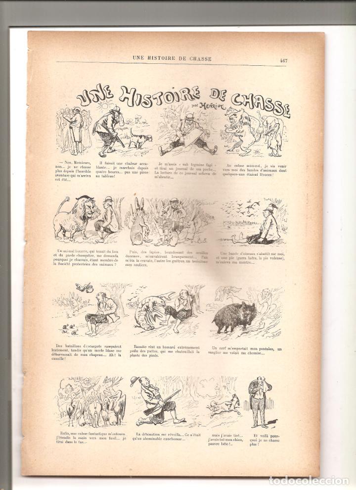 1140. UNE HISTOIRE DE CHASSE. DIBUJANTE HENRIOT (1897/1898) (Tebeos y Comics - Tebeos Clásicos (Hasta 1.939))