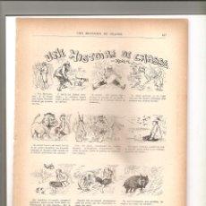 Tebeos: 1140. UNE HISTOIRE DE CHASSE. DIBUJANTE HENRIOT (1897/1898). Lote 194239710