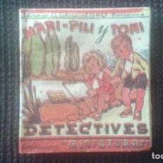 Tebeos: MARI-PILI Y TONI DETECTIVES. COLECCION MINIATURAS. EDITORIAL EL GATO NEGRO. BARCELONA.. Lote 194291878