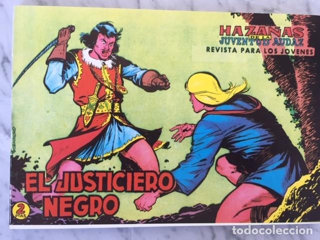 EL JUSTICIERO NEGRO - HAZAÑAS JUVENTUD AUDAZ - FASCIMIL, COMPLETA EN TRES CUADERNOS - ED.JLA (Tebeos y Comics - Tebeos Otras Editoriales Clásicas)