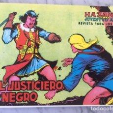Tebeos: EL JUSTICIERO NEGRO - HAZAÑAS JUVENTUD AUDAZ - FASCIMIL, COMPLETA EN TRES CUADERNOS - ED.JLA. Lote 194322626