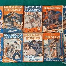 Tebeos: LOTE DE 10 LIBROS SERIE POPULAR MOLINO (1934) FOTOS DE TODOS. Lote 194345933