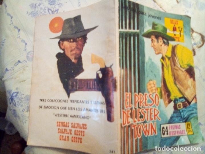Tebeos: GRAN OESTE- Nº 241 -EL PRESO DE LESTER TOWN-1976-GRAN A. REDONDO-DIFÍCIL-ÚNICO EN TC-BUENO-LEAN-3107 - Foto 2 - 194514433