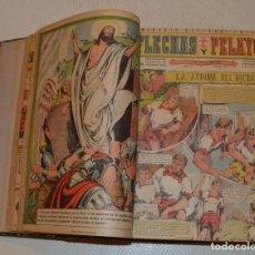 Tebeos: FLECHAS Y PELAYOS - 1 TOMO ENCUADERNADO - DESDE EL 222 HASTA EL 299 - 1943-1946 - 77 TEBEOS. Lote 194601797