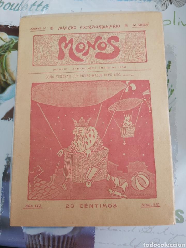 Tebeos: Revista Monos del 57 al 200 gran lote del considerado primer tebeo de España - Foto 2 - 194674190