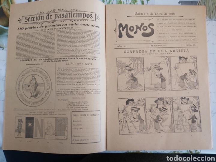 Tebeos: Revista Monos del 57 al 200 gran lote del considerado primer tebeo de España - Foto 13 - 194674190