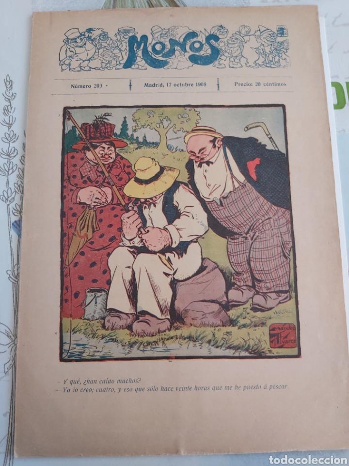 Tebeos: Revista Monos del 57 al 200 gran lote del considerado primer tebeo de España - Foto 25 - 194674190