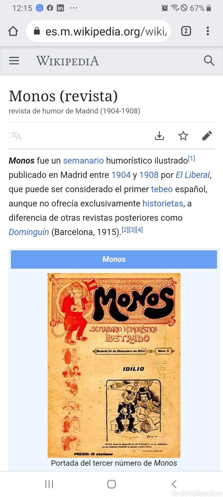 Tebeos: Revista Monos del 57 al 200 gran lote del considerado primer tebeo de España - Foto 30 - 194674190