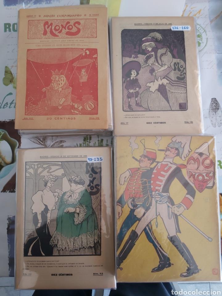 REVISTA MONOS DEL 57 AL 200 GRAN LOTE DEL CONSIDERADO PRIMER TEBEO DE ESPAÑA (Tebeos y Comics - Tebeos Clásicos (Hasta 1.939))