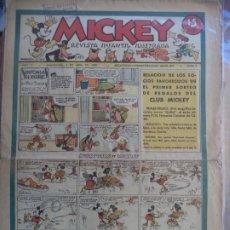 Tebeos: MICKEY AÑO I Nº 5 DEL6 DE ABRIL DE 1935. Lote 194769983