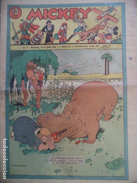MICKEY Nº 67 DEL 13 DE JUNIO DE 1936 (Tebeos y Comics - Tebeos Clásicos (Hasta 1.939))