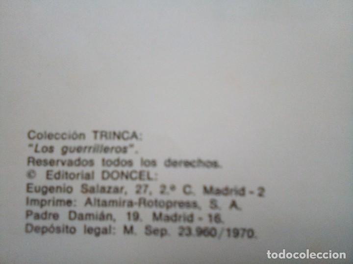 Tebeos: LOS GUERRILLEROS- 5 AVENTURAS- COLECCIÓN TRINCA- Nº 3 - GRAN BERNET TOLEDANO-1972-CORRECTO-LEAN-0172 - Foto 7 - 194788682