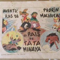 Tebeos: AVENTURAS DE PEDRIN MACHUCA EDITORIAL ESPAÑOLA SAN SEBASTIAN. Lote 195029773