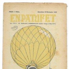 Tebeos: EN PATUFET. ANY VII Nº-359 BARCELONA 26 NOVEMBRE DE 1910. Lote 195125322