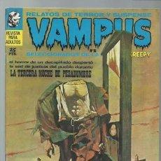 Tebeos: VAMPUS 15, 1972, IBERO MUNDIAL DE EDICIONES, MUY BUEN ESTADO. Lote 195229780