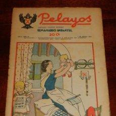 Tebeos: REVISTA PELAYOS, SEMANARIO INFANTIL 1937, Nº 32, MIDE 34 X 21 CMS. REQUETÉ, CARLISMO. . Lote 195361590