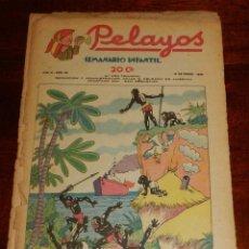 Tebeos: REVISTA PELAYOS, SEMANARIO INFANTIL 1938, Nº 56, MIDE 34 X 21 CMS. REQUETÉ, CARLISMO. PORTADA CON DE. Lote 195361763
