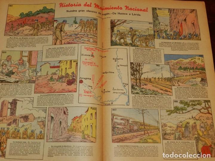 Tebeos: Revista Pelayos, semanario infantil 1938, nº 75, mide 34 x 21 cms. Requeté, Carlismo. - Foto 2 - 195362810