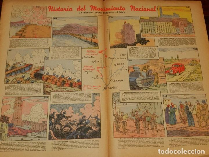 Tebeos: Revista Pelayos, semanario infantil 1938, nº 78, mide 34 x 21 cms. Requeté, Carlismo. - Foto 2 - 195362982