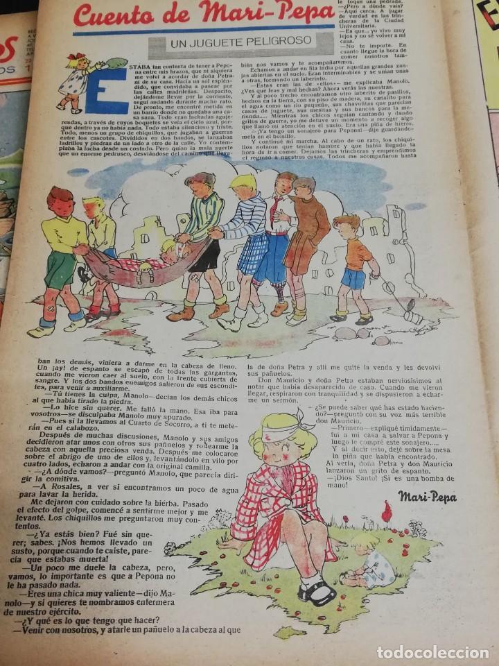 FLECHAS Y PELAYOS. SEMANARIO NACIONAL INFANTIL. Nº 26. 4 DE JUNIO 1939. INCLUYE CUENTO MARI PEPA. (Tebeos y Comics - Tebeos Clásicos (Hasta 1.939))