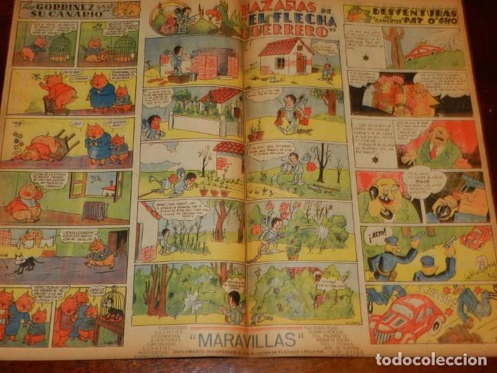 Tebeos: FLECHAS Y PELAYOS Nº 94 EDITA FE Y JONS, 1940, INCLUYE CUENTO MARI PEPA Y RECORTABLE. MIDE 34 X 21 C - Foto 2 - 195364265