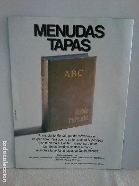 Tebeos: TEBEO. GENTE MENUDA. SEMANA JUVENIL DE ABC. 13 ENERO 1991.III EPOCA Nº 61. - Foto 2 - 195469851