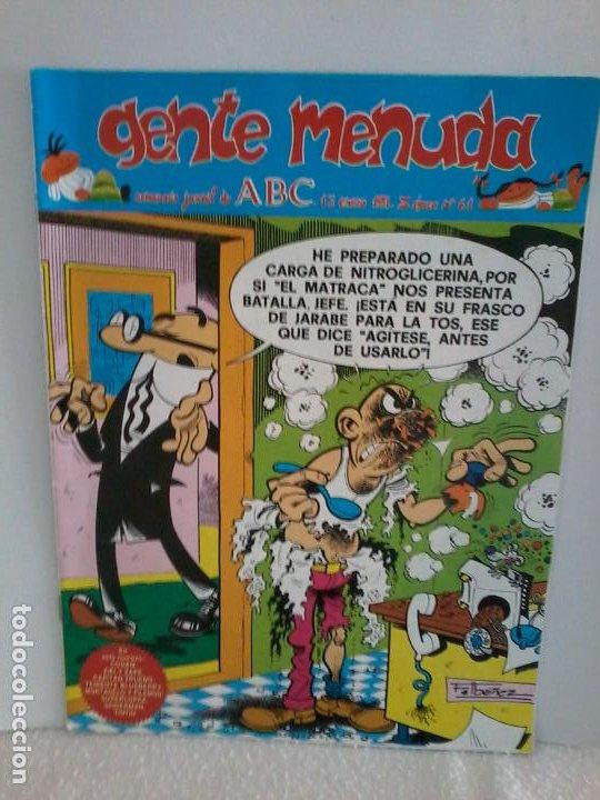TEBEO. GENTE MENUDA. SEMANA JUVENIL DE ABC. 13 ENERO 1991.III EPOCA Nº 61. (Tebeos y Comics - Tebeos Otras Editoriales Clásicas)