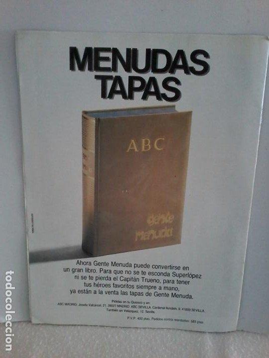 Tebeos: TEBEO. GENTE MENUDA. SEMANA JUVENIL DE ABC. 20 ENERO 1991.III EPOCA Nº 62. - Foto 2 - 195470017