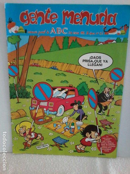 TEBEO. GENTE MENUDA. SEMANA JUVENIL DE ABC. 20 ENERO 1991.III EPOCA Nº 62. (Tebeos y Comics - Tebeos Otras Editoriales Clásicas)