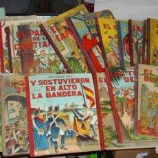 Tebeos: LEYENDAS ESPAÑOLAS-EDICIONES AYAX-COL.COMPLETA ÚNICA-19 Nº LOMO TELA.-LEER Y VER FOTOS. Lote 195963840