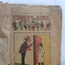 Tebeos: TEBEO CORREO DE LOS NIÑOS 1913-DEL 27/DE AGOSTO AL 31/12/1913-TEBEOS ENCUADERNADOS(17). Lote 196157393