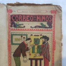 Tebeos: TEBEO CORREO DE LOS NIÑOS 1914-DEL 7/DE ENERO AL 20/5/1914-TEBEOS ENCUADERNADOS(19) . Lote 196159107
