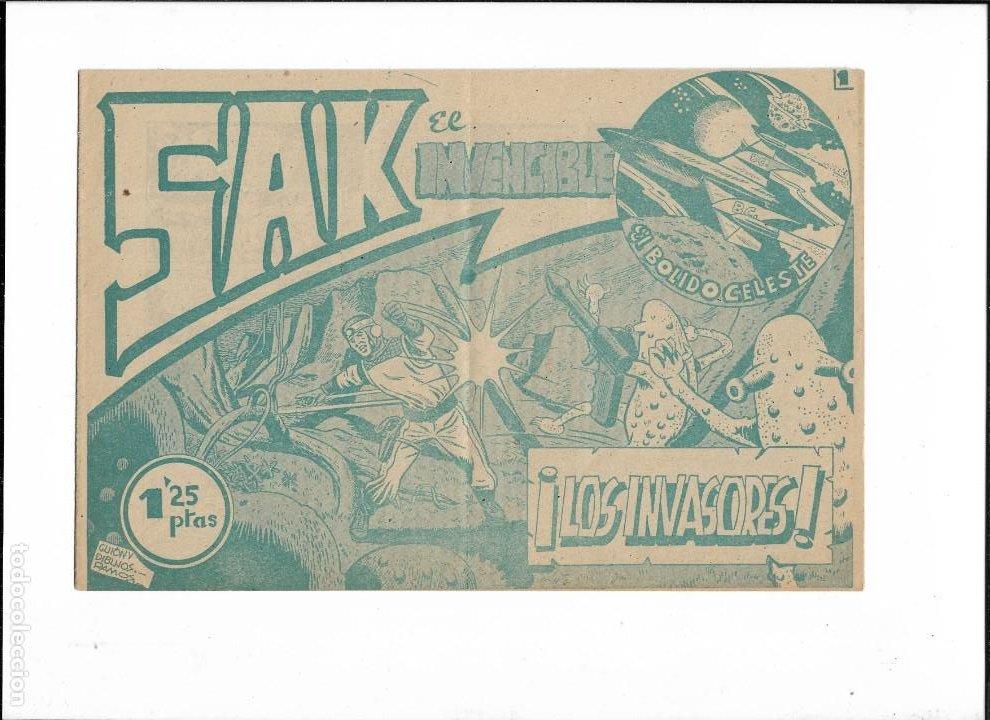 SAK EL INVENCIBLE. Nº 1. AÑO 1954. ES ORIGINAL Y NUEVO DIBUJANTE LUIS RAMOS. EDITORIAL SIMBOLO. (Tebeos y Comics - Tebeos Otras Editoriales Clásicas)