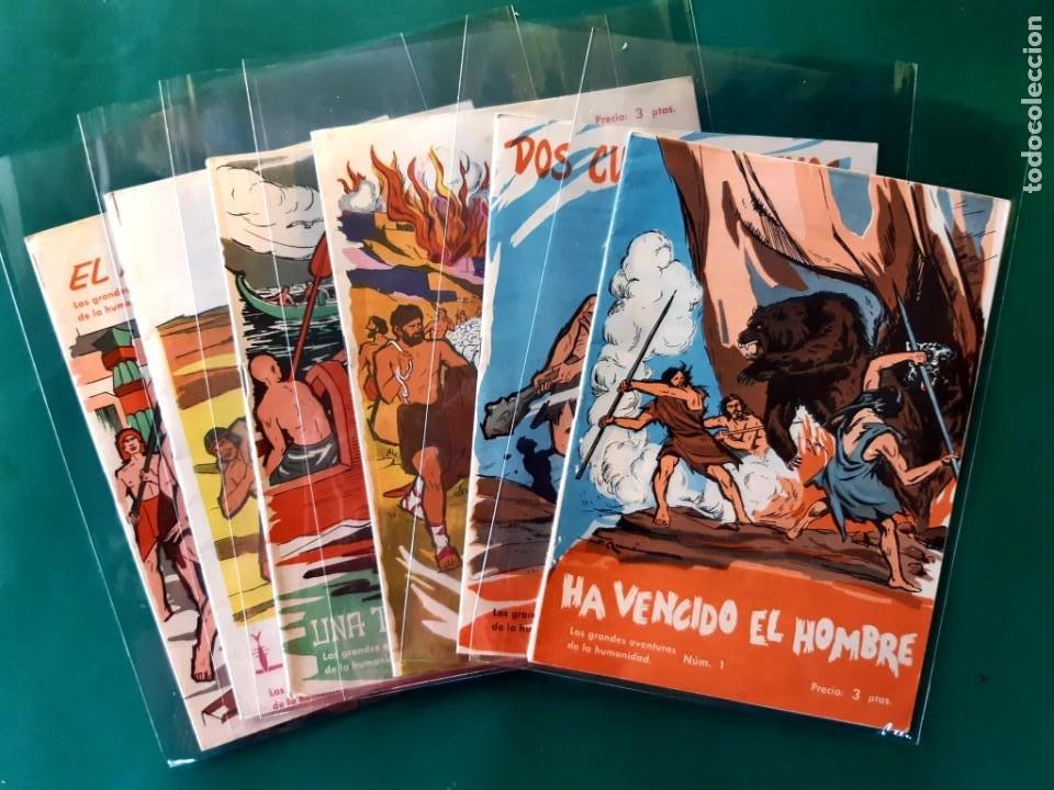 LAS GRANDES AVENTURAS DE LA HUMANIDAD Nº1-2-3-4-5-Y 6 DOMINGO SABIO 1963 VER FOTOS (Tebeos y Comics - Tebeos Otras Editoriales Clásicas)