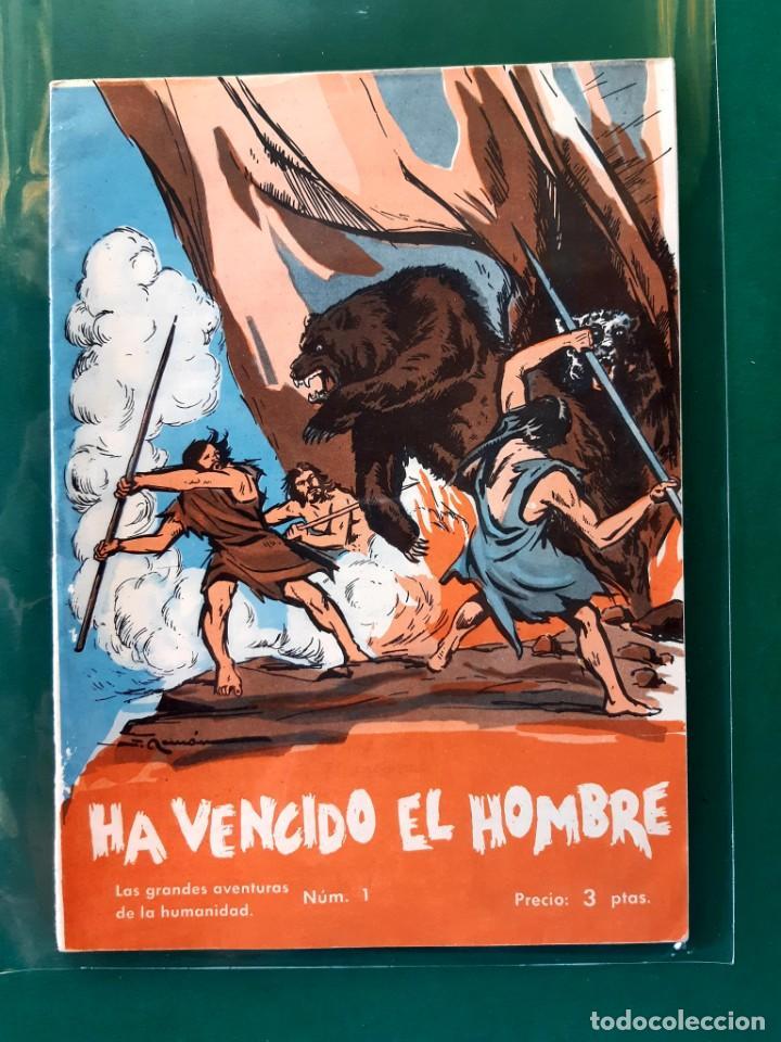 Tebeos: LAS GRANDES AVENTURAS DE LA HUMANIDAD Nº1-2-3-4-5-y 6 DOMINGO SABIO 1963 VER FOTOS - Foto 2 - 196355670