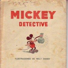 Tebeos: MICKEY DETECTIVE - ILUSTRACIONES DE WALT DISNEY. Lote 196823861