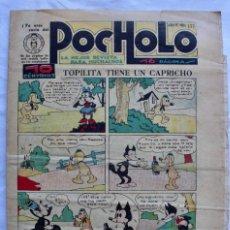 BDs: POCHOLO Nº 177. EDITORIAL S. VIVES 1930- AÑO V- 16 PAGINAS. Lote 197503063