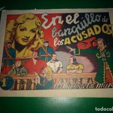 Tebeos: EL DIABLO DE LOS MARES - EN EL BANQUILLO DE LOS ACUSADOS - ORIGINAL TORAY DIFICIL Y BIEN CONSERVADO. Lote 198110322